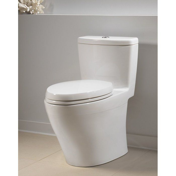 Aquia Dual Flush Elongated One Piece Toilet Seat Included With Images One Piece Toilets