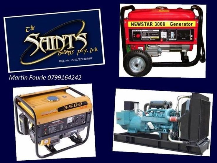 Service and repair to all makes and sizes of Generators. Many years experience in the industry with firm references. We also do Lawnmowers and construction equipment and offer a collection and delivery service to Pretoria east clients. Load shedding is not the only concern as power cuts and outages can strike at any moment and your Generator as a backup could be your only life line. Ensure that your equipment is ready and reliable. Call us today, google us on The Saints Holdings Pty Ltd or…