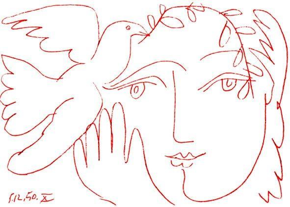 Colomba della pace, Pablo Picasso