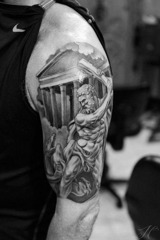 Hercule combattant un monstre, l'Hydre de Lerne, par Noah Minuskin.