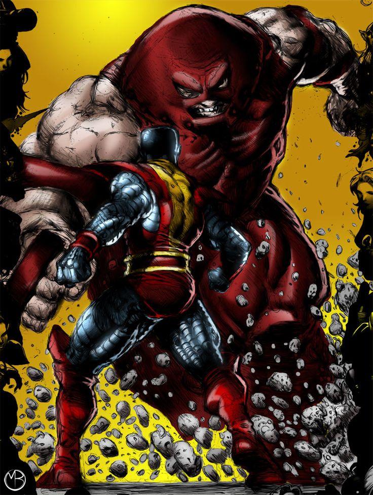 colossus vs juggernaut x men x force pinterest vs