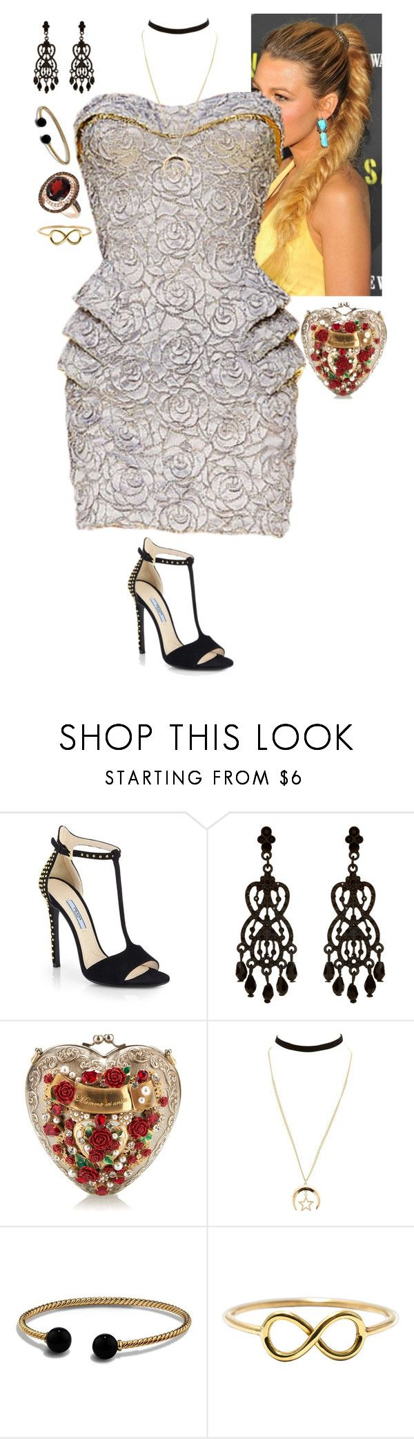 """Untitled #241"" by stinze on Polyvore featuring Prada, Accessorize, Dolce&Gabbana, Charlotte Russe, David Yurman and LE VIAN"