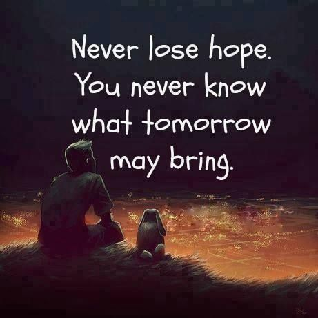 You never know what tomorrow brings