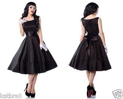 50er Jahre Rockabilly Kleid Petticoat Kleid mit Satin Schleife 50s Gr. 36 - 46