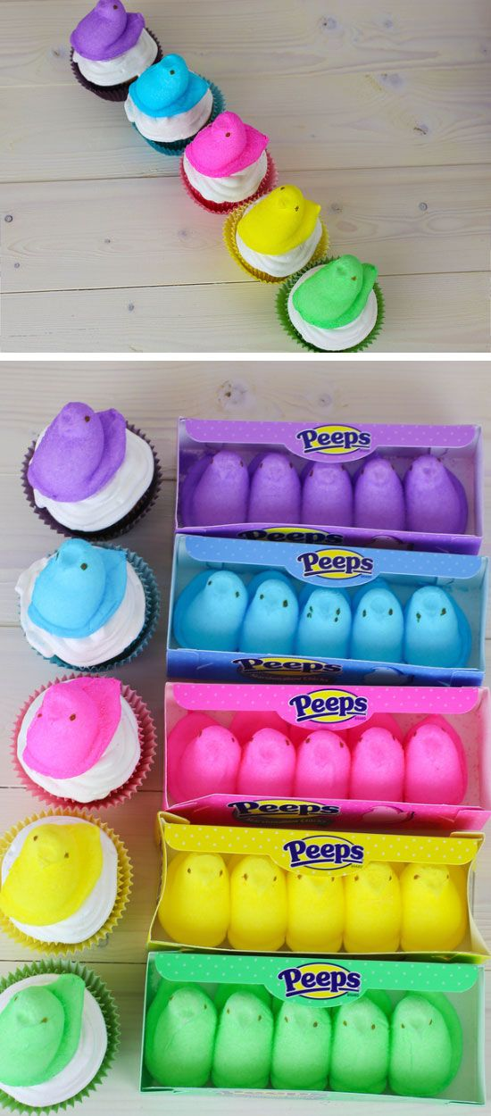 Peeps Cupcakes | Easy Easter Treats for Kids to Make