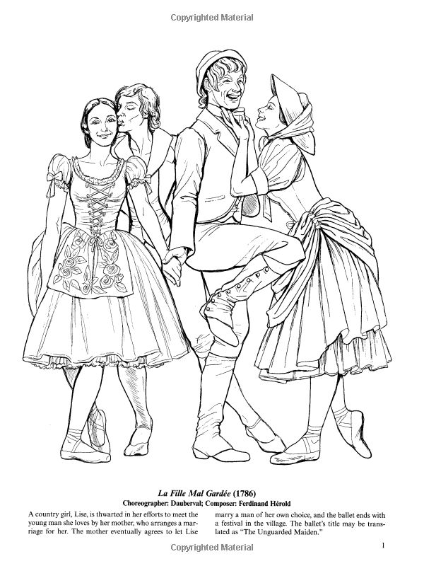 ballet coloring pages for adults - photo#31