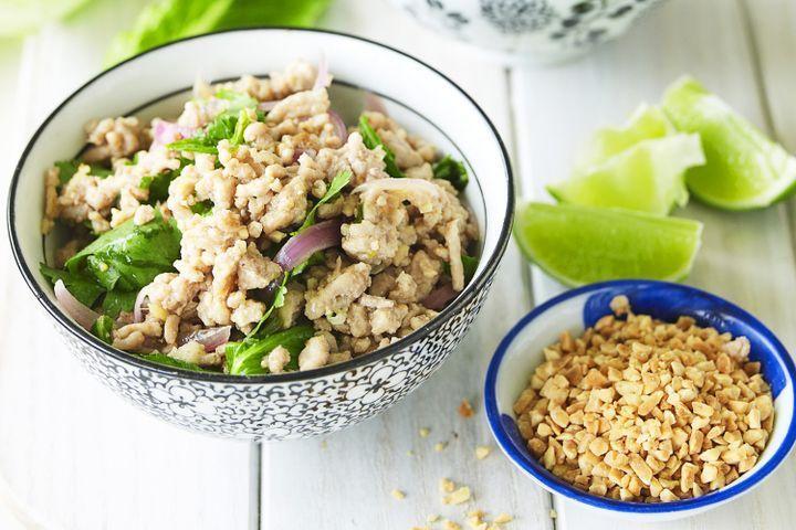 Thai larb moo (minced pork salad)