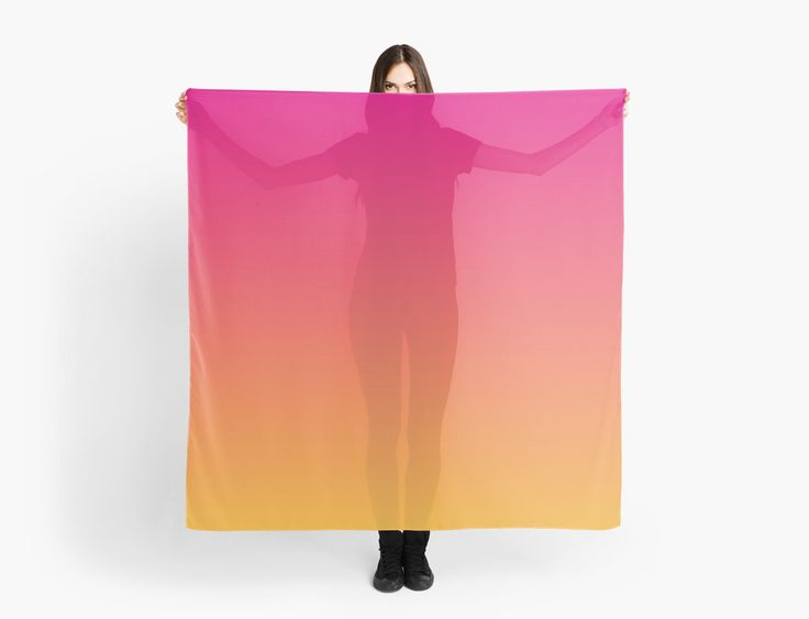 Ombre Scarf | Pink and Orange |  Scarves | by Eclectic at HeART