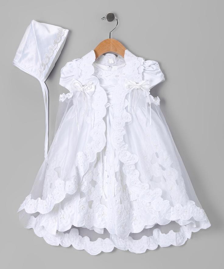 White Baptism Cape Set - Infant Beautiful