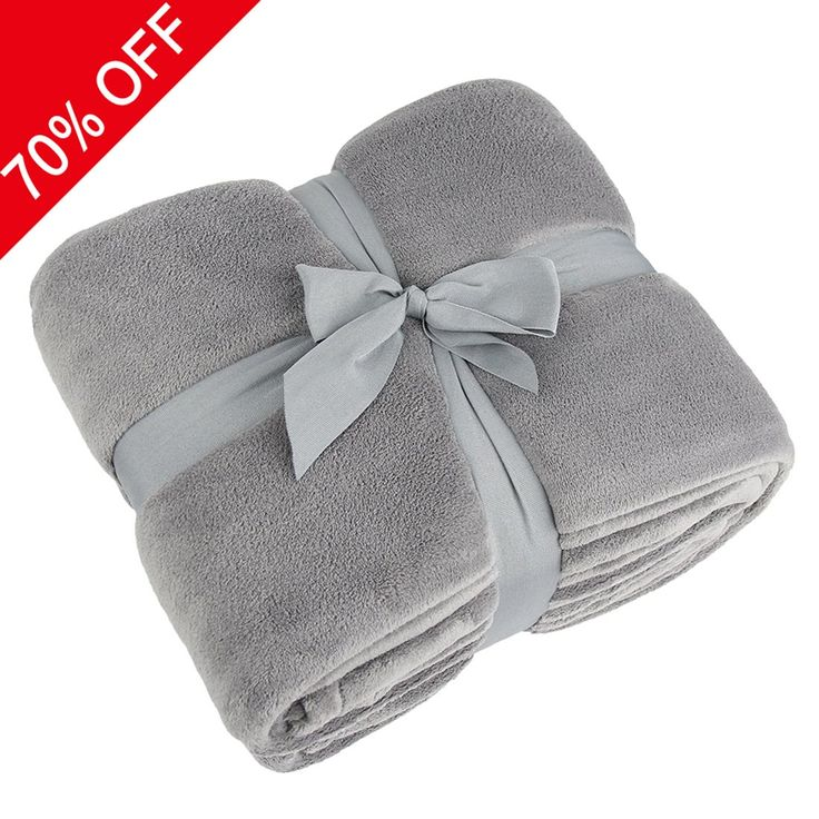 Couch Bedding Blanket, Somewhere Queen Polar-Coral Fleece Thermal Blanket Smoky Grey-Extra Soft Fabric, Super Warm, Lightweight & Easy Care, Couch, Bed Blanket, the Perfect Wedding Gift-By Somewhere