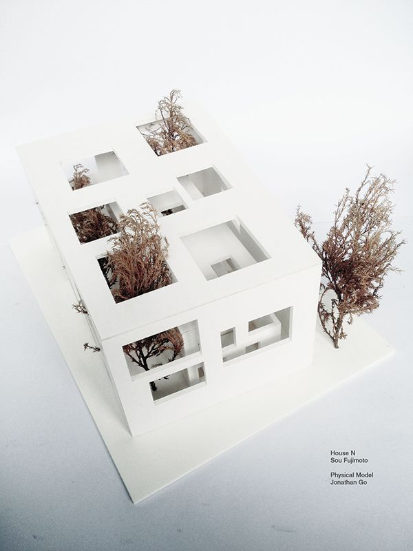 1:50 scale model project of Sou Fujimoto's House N