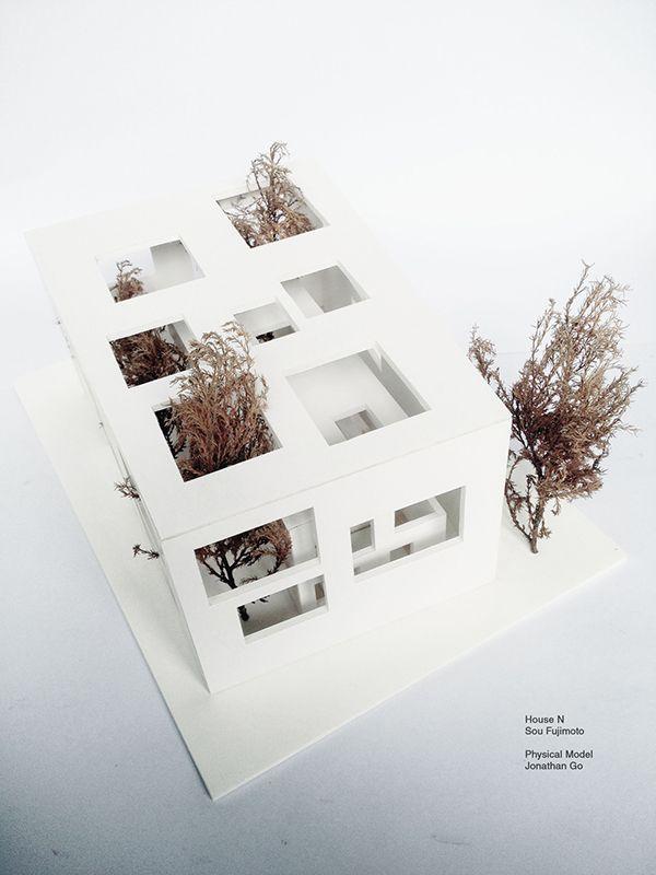 1:50 scale model project of Sou Fujimoto's House N