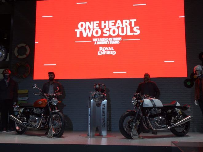 Royal Enfield Interceptor INT 650 and Continental GT 650 revealed at EICMA 2017; India launch in 2018