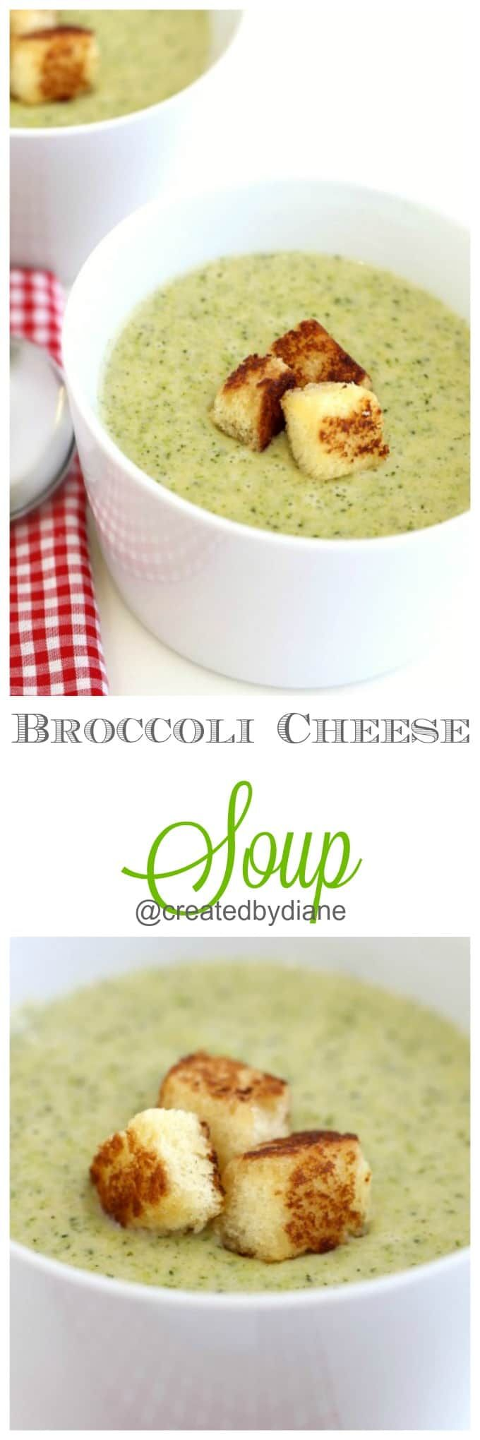 Broccoli Cheese Soup from @createdbydiane