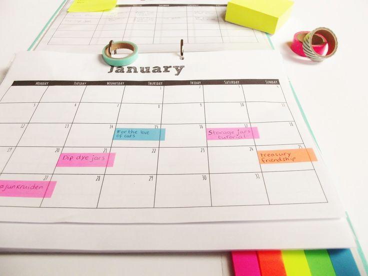Blog Planner (Editorial Calendar) Free Printables - Monthly Calendar