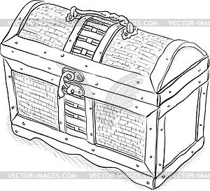 treasure chest lock coloring pages - photo#31