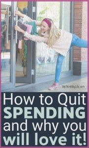 My no-spend month was a profound experience. My credit card loved the spending freeze too! This is how to quit buying stuff and why I loved it. #mythinkbiglife #budget #frugalliving #nospend #quitspending