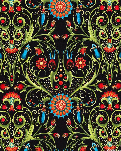 eQuilter Paradise - Folk Art Fantasies - Black