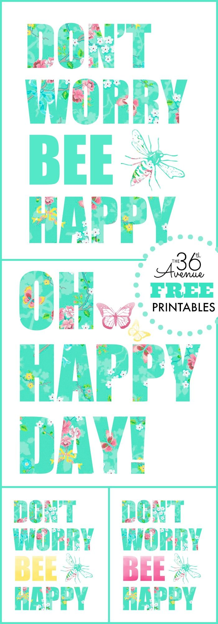 Free Printables - More colors at the36thavenue.com