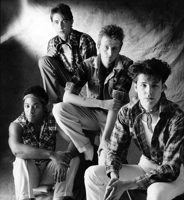 Celebrating 30 years: (L-R) Tony Butler, Mark Brzezicki, Bruce Watson and Stuart Adamson released their debut album The Crossing in 1983