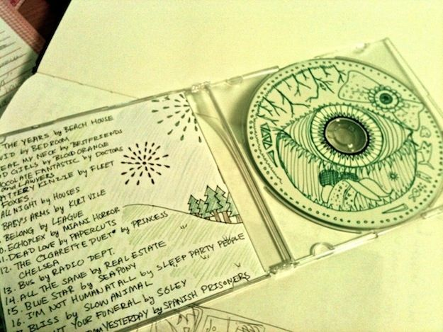 And you don't even have to craft to make it look great. | 16 Cool Ideas For Homemade Mix CD Artwork