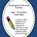 A year of ideas and black line masters for students to practice writing their name and academic skills every morning. These are used as part of the...