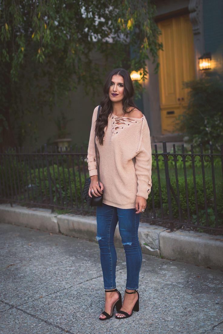 Lace Up Sweater | A Southern Drawl