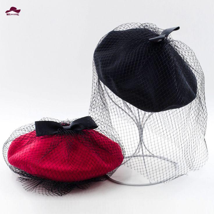 Купить товар2015 Новый Горячая Зима Бантом Шерстяные Женские Шляпы Береты…