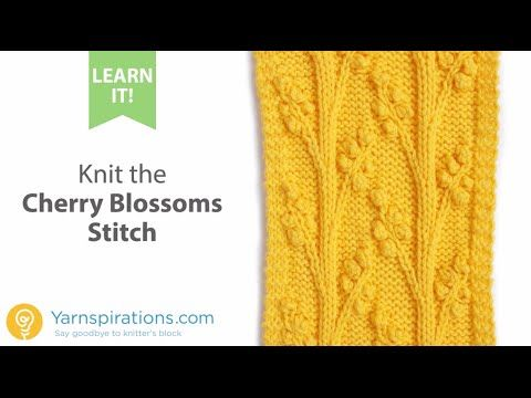 How To Knit the Cherry Blossom Stitch - YouTube