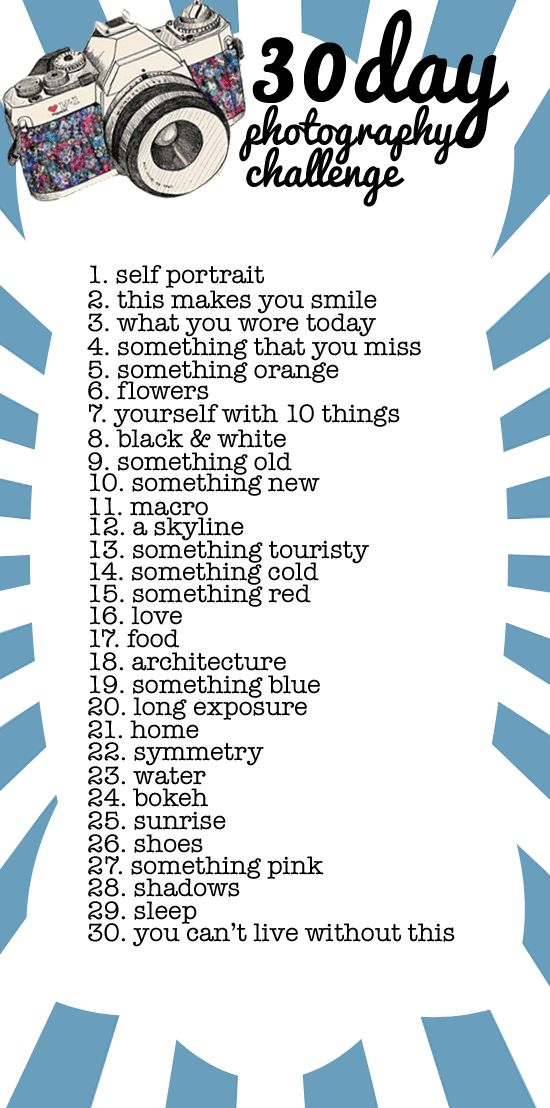 30 day photography challenge. May not do the challenge, but it will help if I do a 365 in 2012
