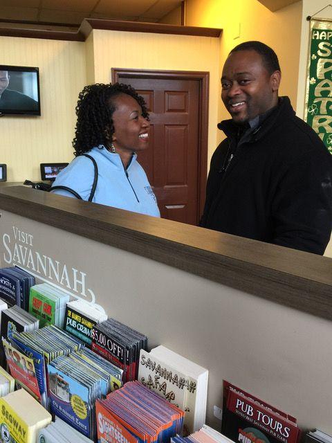 Latisha and Brandon Hicks visited our Savannah visitor center from North Carolina!