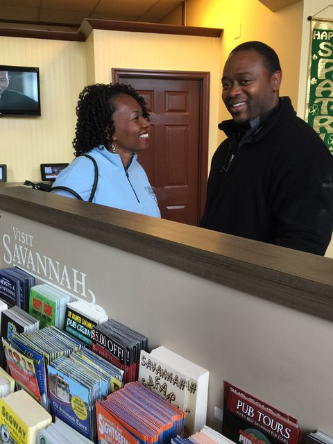 Latisha and Brandon Hicks visited our Savannah visitor center from North Carolina!