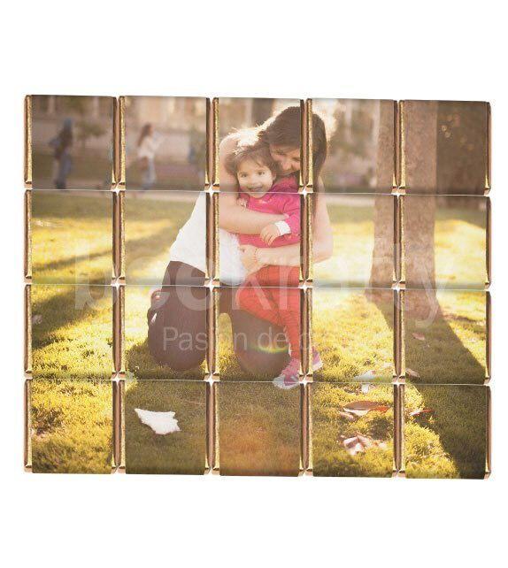 Regala para San Valentín este original rompecabezas de chocolate con la foto que más te guste. Consíguelo en www.beekrafty.com #beekrafty  #pasionporcrear