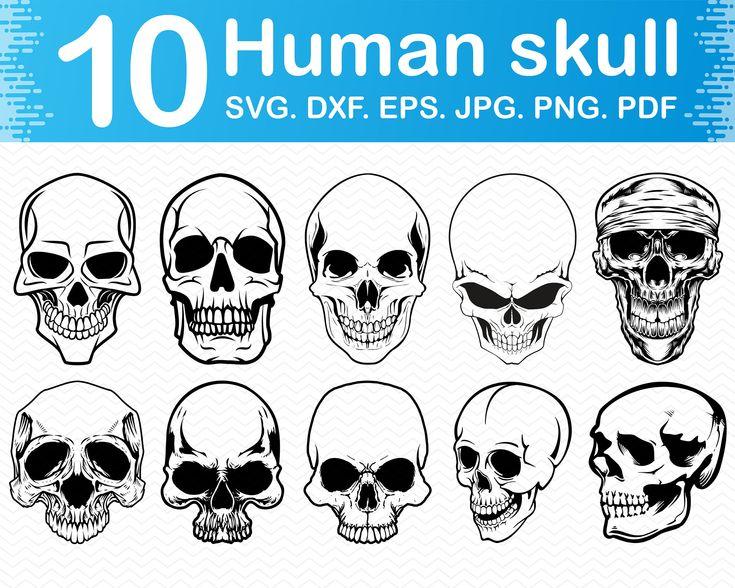 Skull svg Skull face svg Skull clipart Skull vector Skull