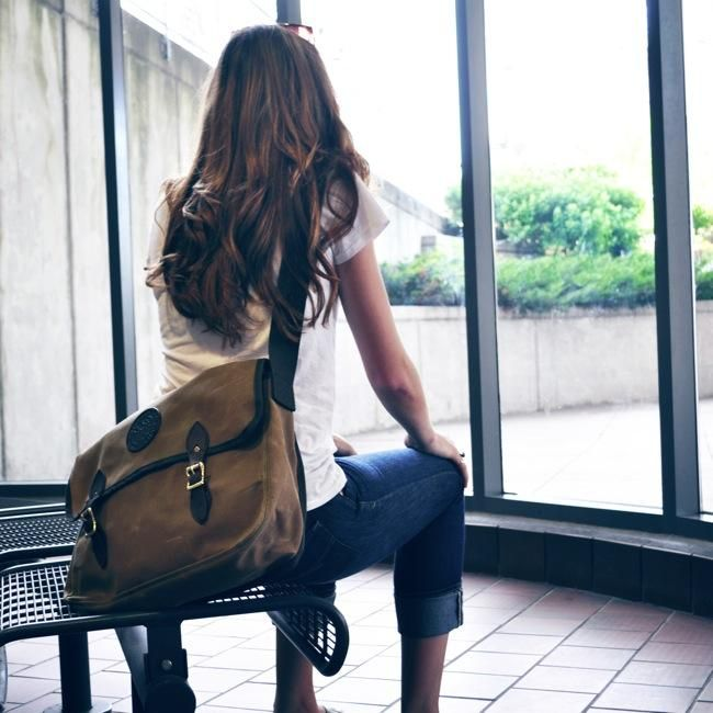 Standard Book Bag by Duluth Pack in Waxed Canvas #bookbag #satchel #bag