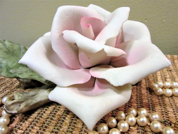 Rose Porcelain Bisque by Golden Crown E & R Italy Pastel Pink