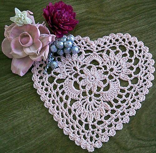 Ravelry: RosesNLace's Cluster Heart doily