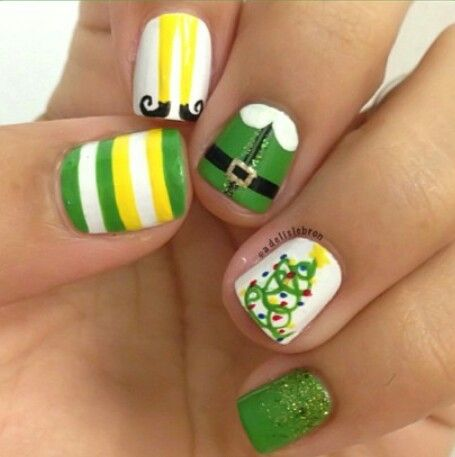 ELF-themed nails