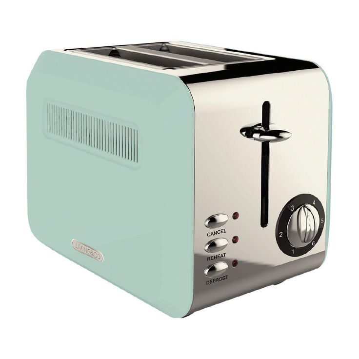 Living co toaster vintage 2 slice blue with images