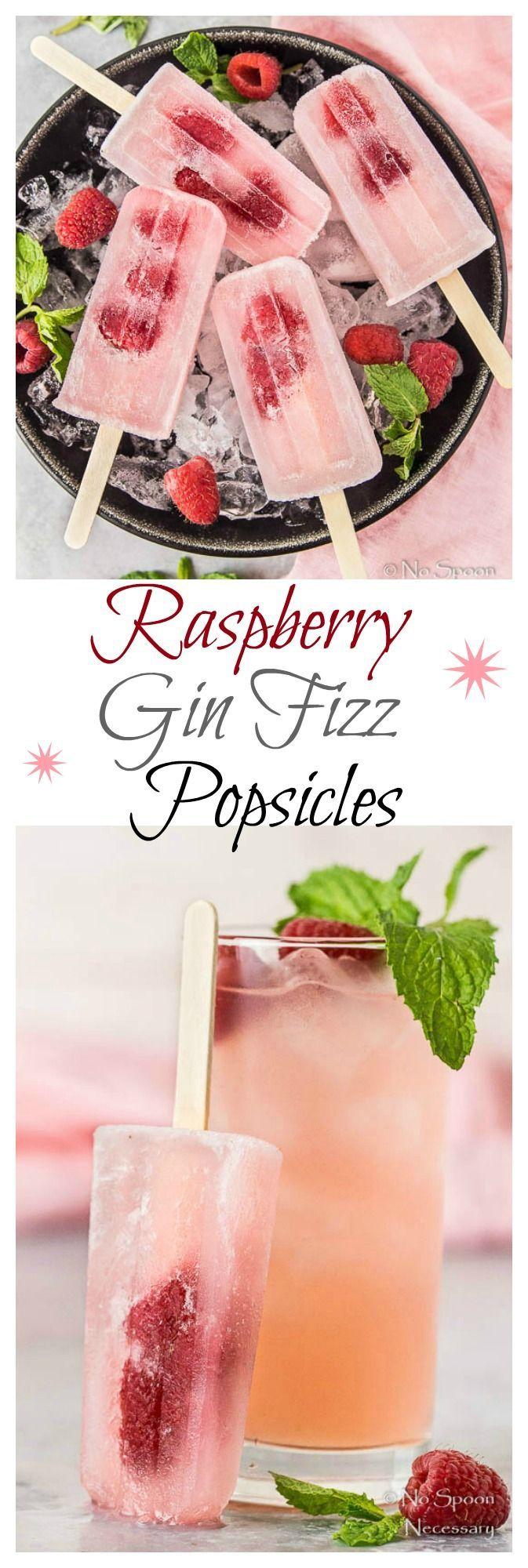 Raspberry Gin Fizz Popsicles.