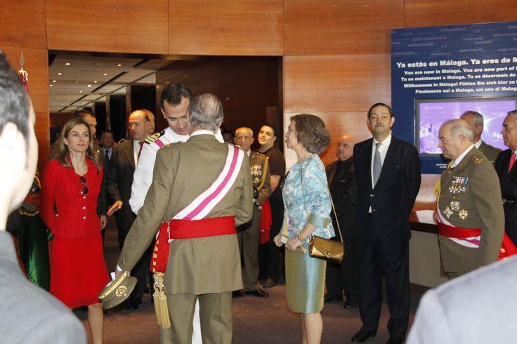 Visita de Sus Majestades los Reyes de España y los Principes de Asturias al Hotel AC Malaga Palacio by Marriott por el Día de las Fuerzas Armadas