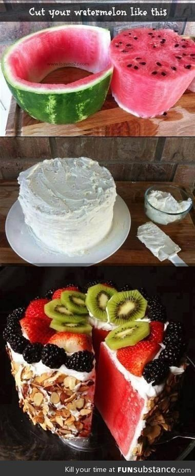 Melon cake a healthy alternative! I must make this for the next birthday