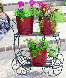 Garden cart flower planter