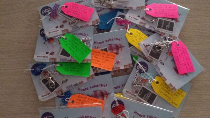 lesmateriaal en andere onderwijstips van juf Jantine: afscheidscadeautje voor de leerlingen