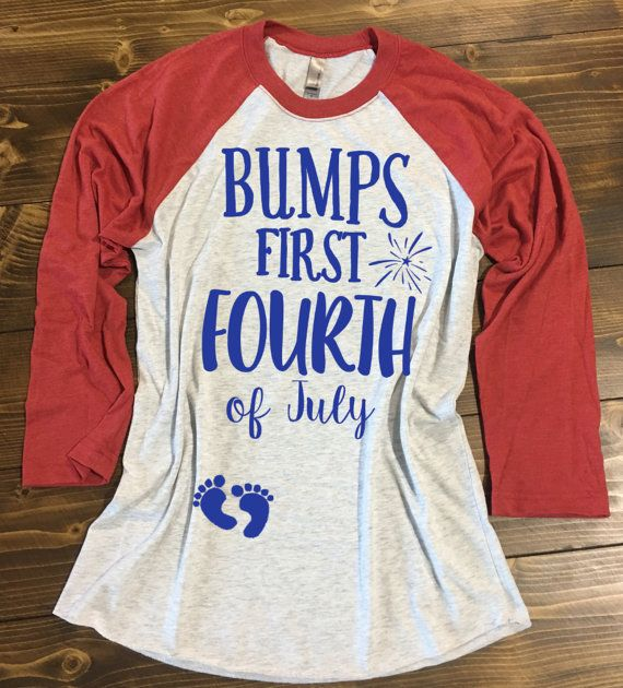 Bump's First 4th of July Shirt. Pregnancy 4th of July Shirt. Mommy to be Independence Day Shirt. Baby Bump 4th of July Shirt.