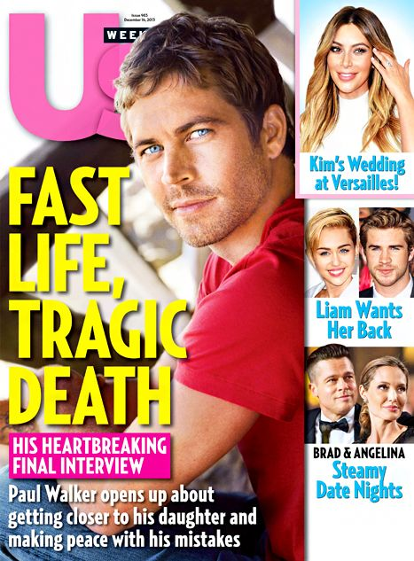 """Two weeks before his death, Paul Walker gave an interview to Us Weekly in which he described life with his 15-year-old daughter, Meadow, as """"perfect."""""""