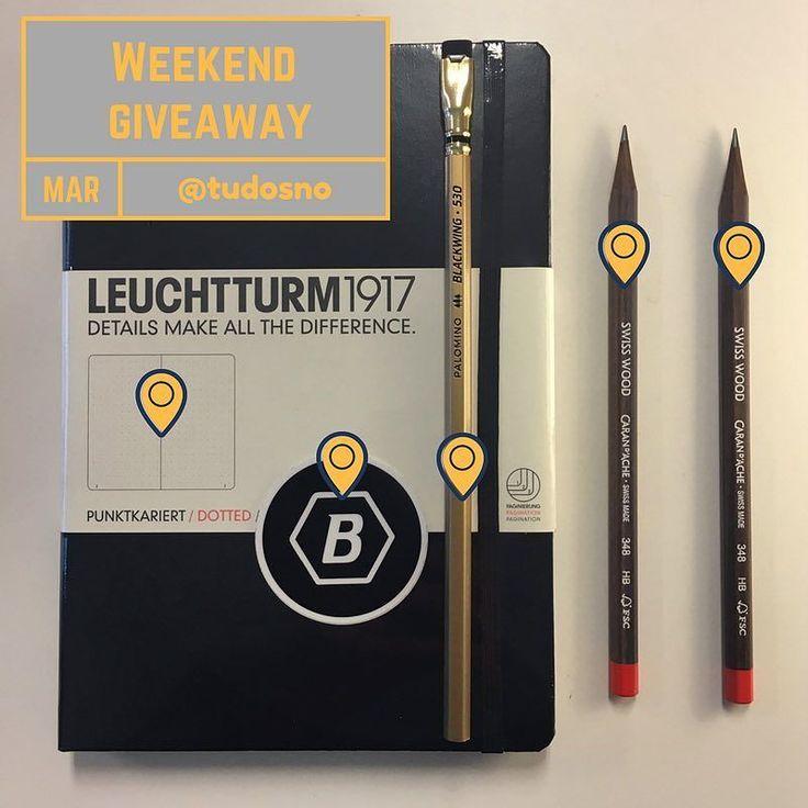 Vi kjører en weekend giveaway! Du kan vinne en Leuchtturm A5 (229-) Blackwing Limited Edition (39-) og to Caran d'Ache Swiss Wood blyanter (98-). For å delta: 1 Del dette bildet på din profil eller Story og tagg oss 2 Følg oss på @tudosno. Vinner trekkes på søndag! Lykke til! #bulletjournal #bulletjournalnorge #bujonorge #carandache #blackwing #leuchtturm1917
