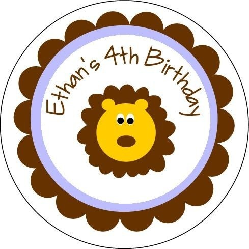 Personalized Lion Stickers...Perfect for baby showers, birthday parties, zoo trips, bookplates, labels, and more. , via Etsy.: Kids Birthday, Birthday Parties, Baby Girls, Lion Birthday, Baby Shower