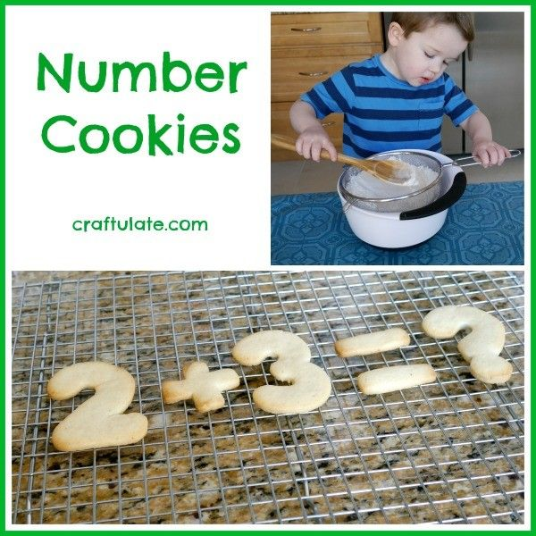 Number Cookies! Kids will love making these, eating these, and working on their math skills!