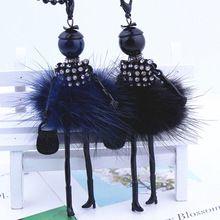Женщины горный хрусталь ожерелье красивое платье кукла свитер цепи длинное ожерелье девушки пушистый ювелирные изделия оптовая продажа бесплатные морские перевозки(China (Mainland))